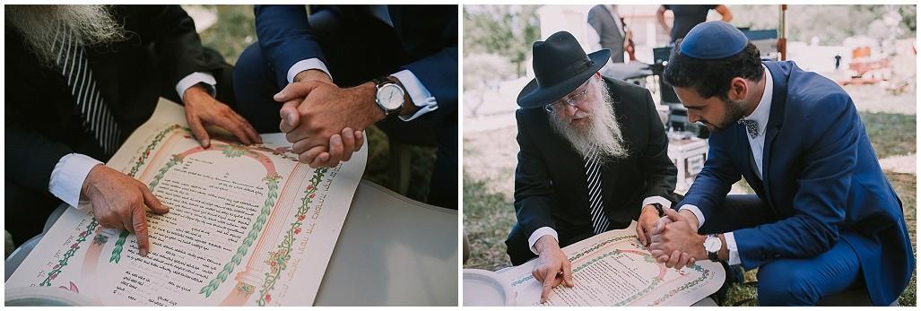 signature de la ketouba, mariage juif traditionnel