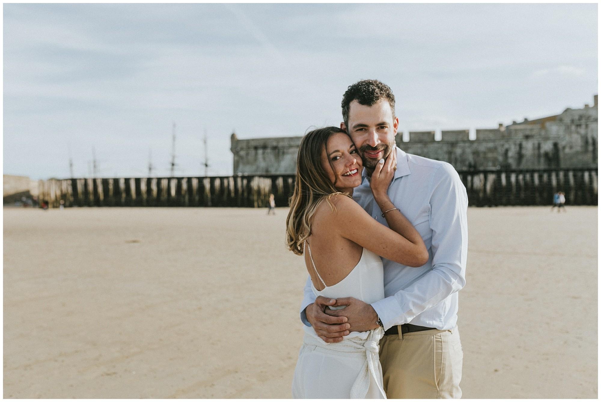 elopement couple photographe de mariage Bretagne